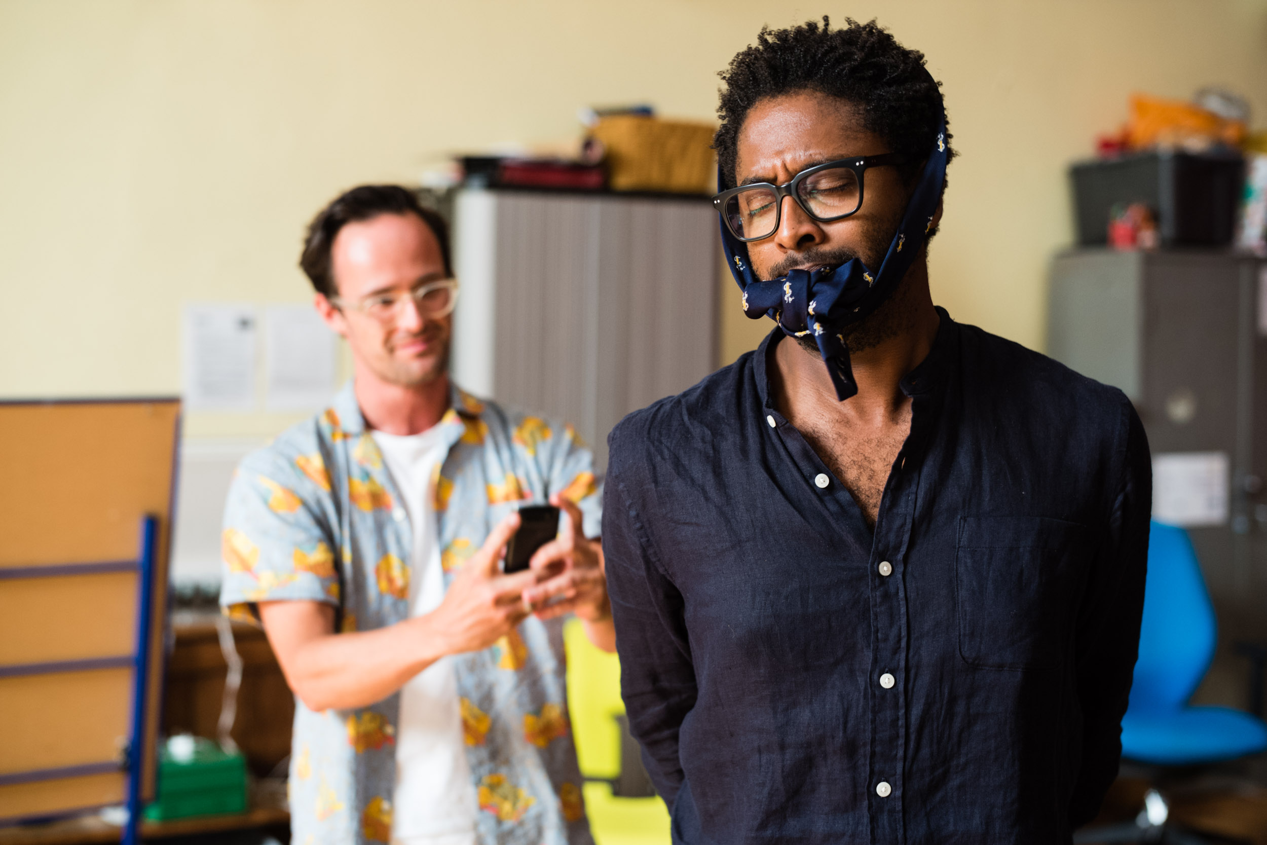 From Left: Lawrence Olsworth-Peter (Tamino), Peter Brathwaite (Papageno)