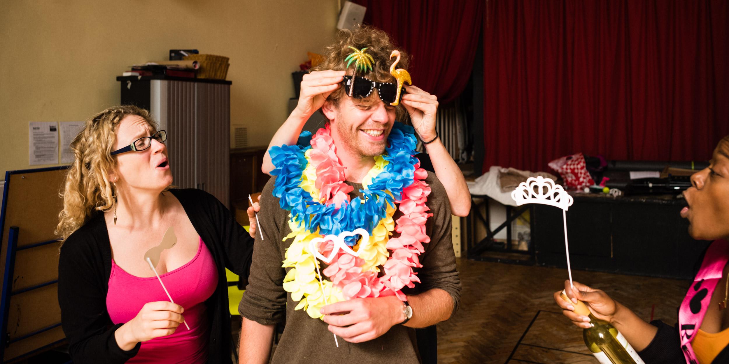 From Left: Luci Briginshaw (Queen), Peter Kirk (Tamino)