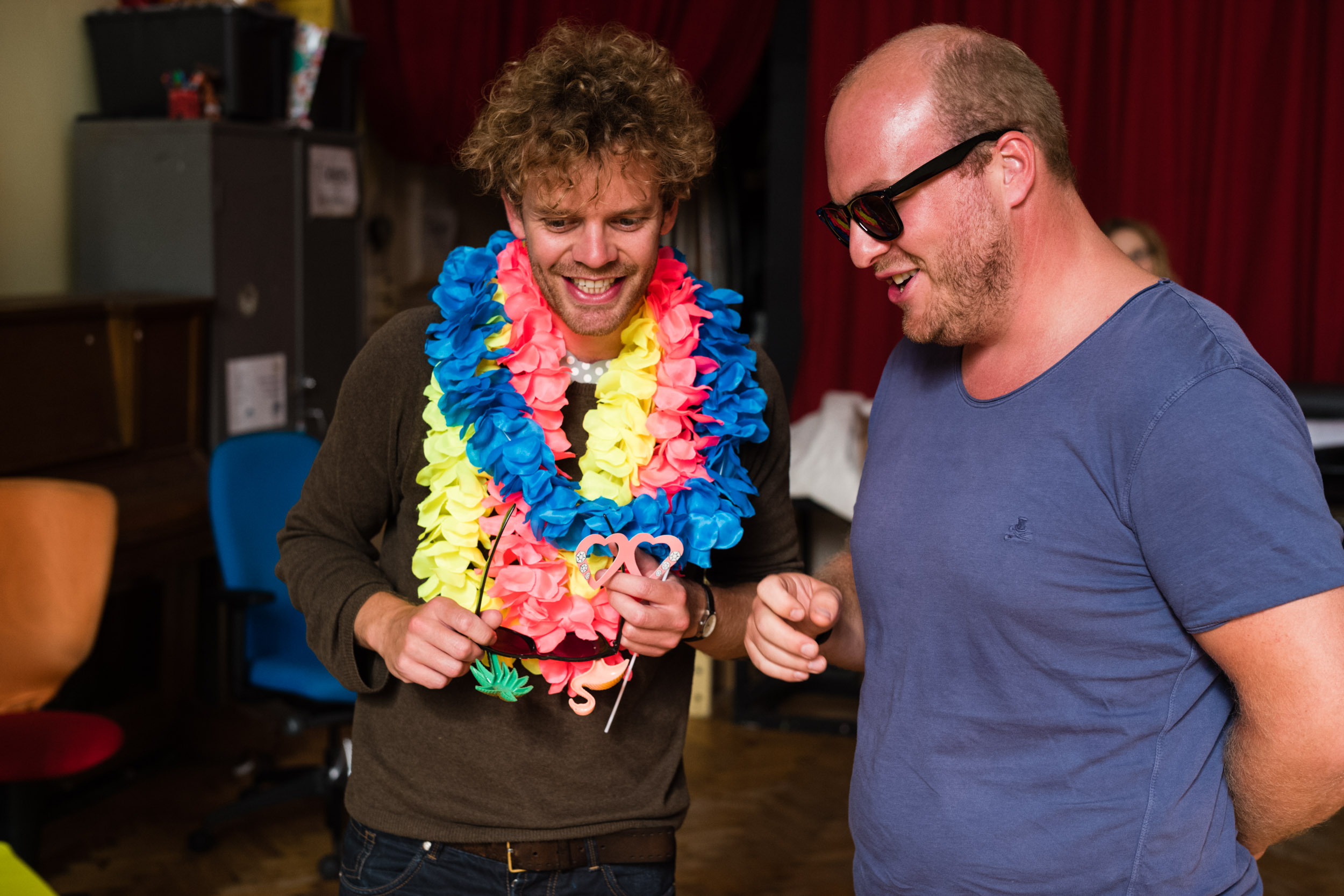 From Left: Peter Kirk (Tamino), Aidan Smith (Sarastro)