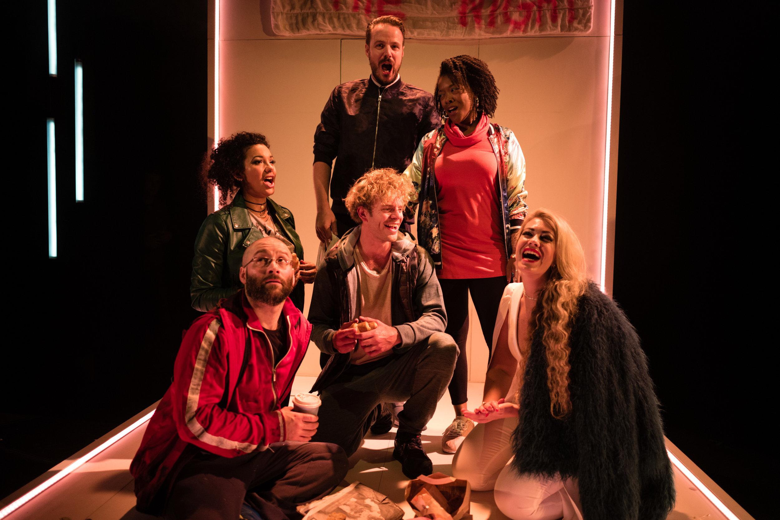 OperaUpClose. Felicity Buckland, Julian Debreuil, Tom Stoddart, Peter Kirk, Abigail Kelly, Fleur de Bray. By Christopher Tribble.jpg