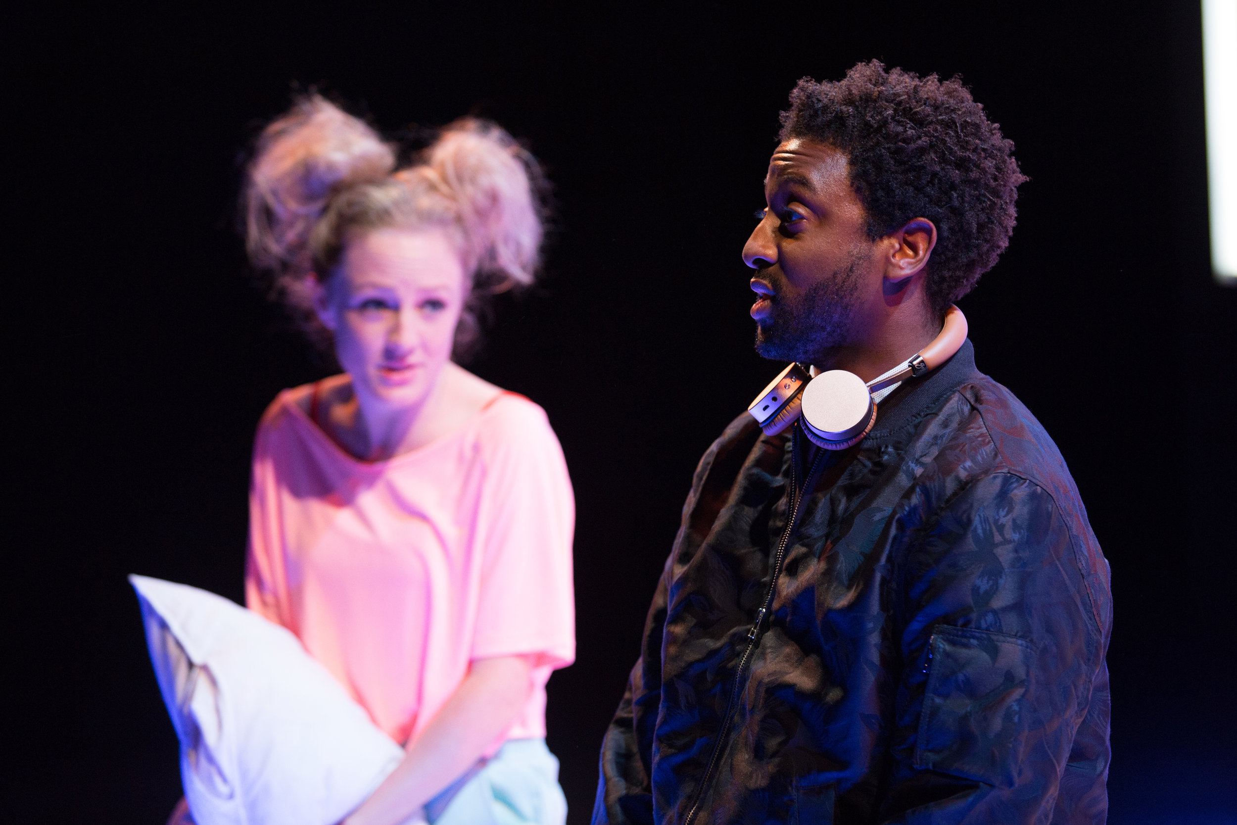 OperaUpClose. The Magic Flute. Susie Buckle (Pamina), Peter Brathwaite (Papageno). Photo by Christopher Tribble..jpg