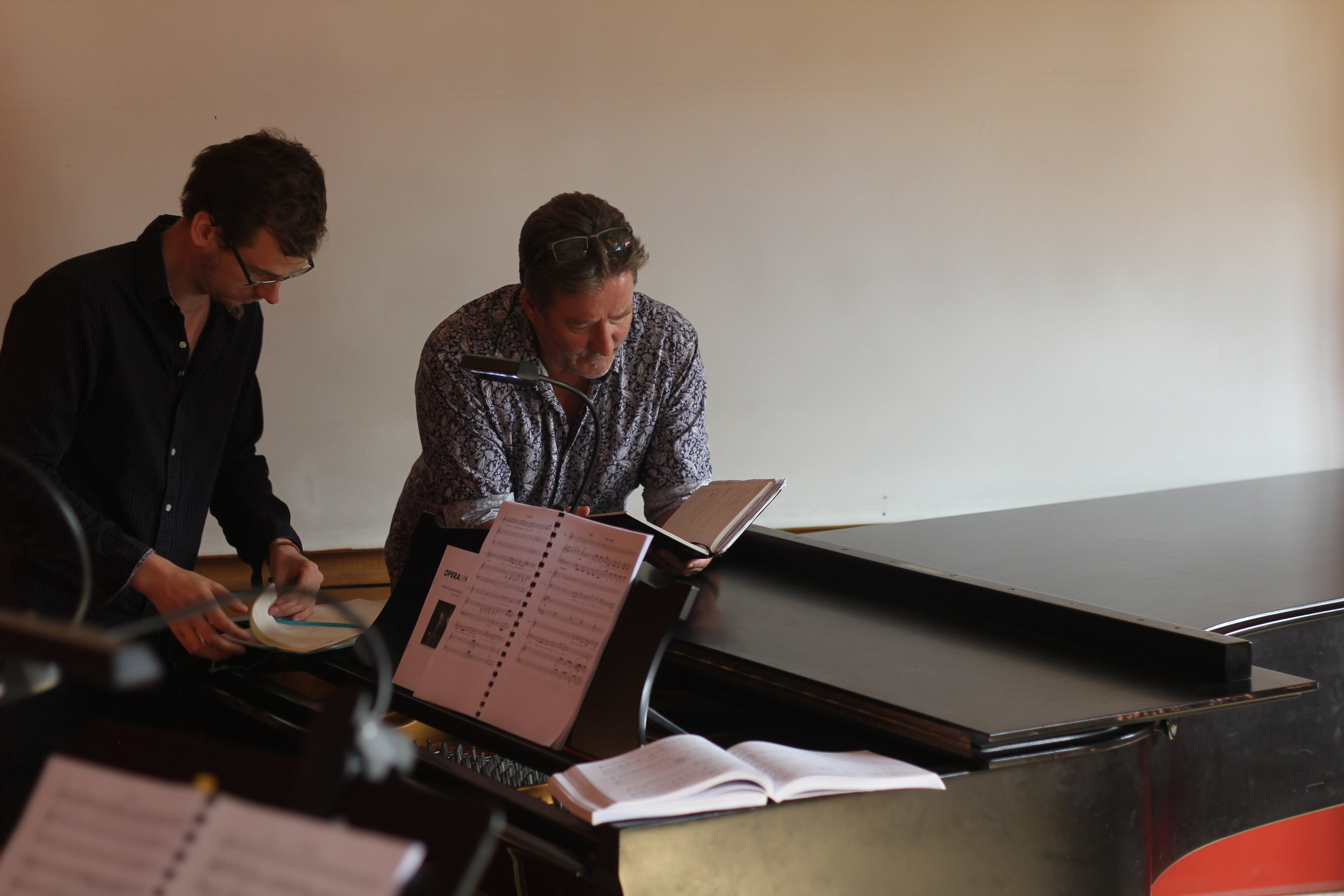 Maria Stuarda 2018: Paul McKenzie (Orchestration and Musical Director), Stuart Pendred (Lord Talbot)