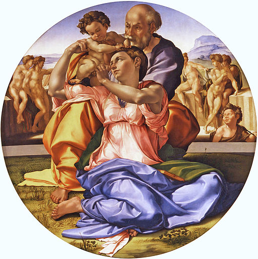 Figure 3: Michelangelo, Uffizi Gallery, Florence Italy, Public Domain