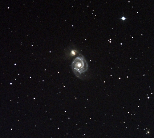Whirlpool Galaxy (M 51). (Photo credit: Richard Johnson).