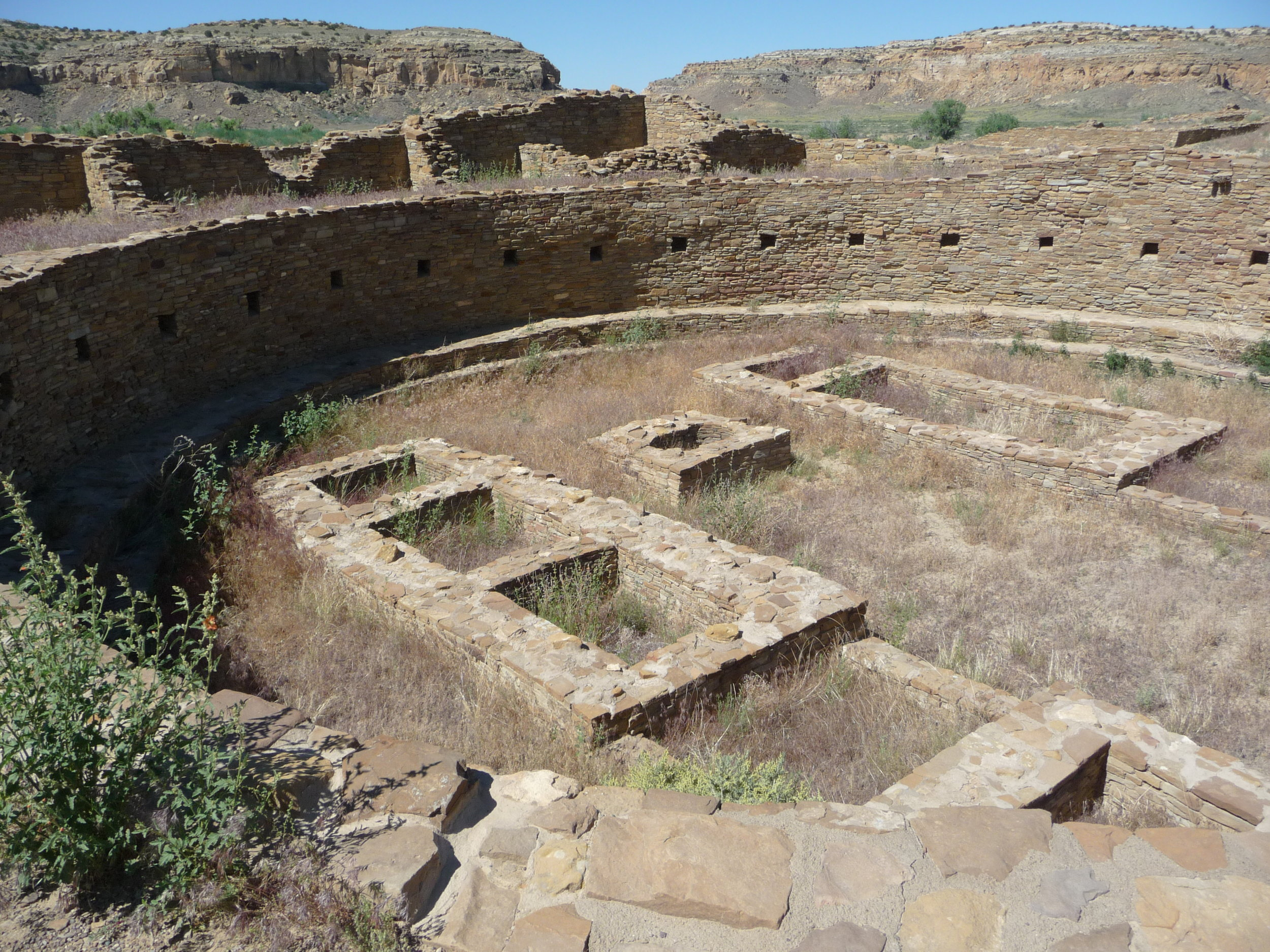 A great kiva on the floor of Pueblo Bonito, Chaco Canyon. Photo credit: Alissa Simon