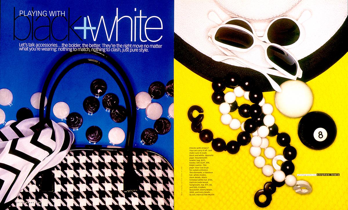 Black+Whitte accessories for O, Magazine