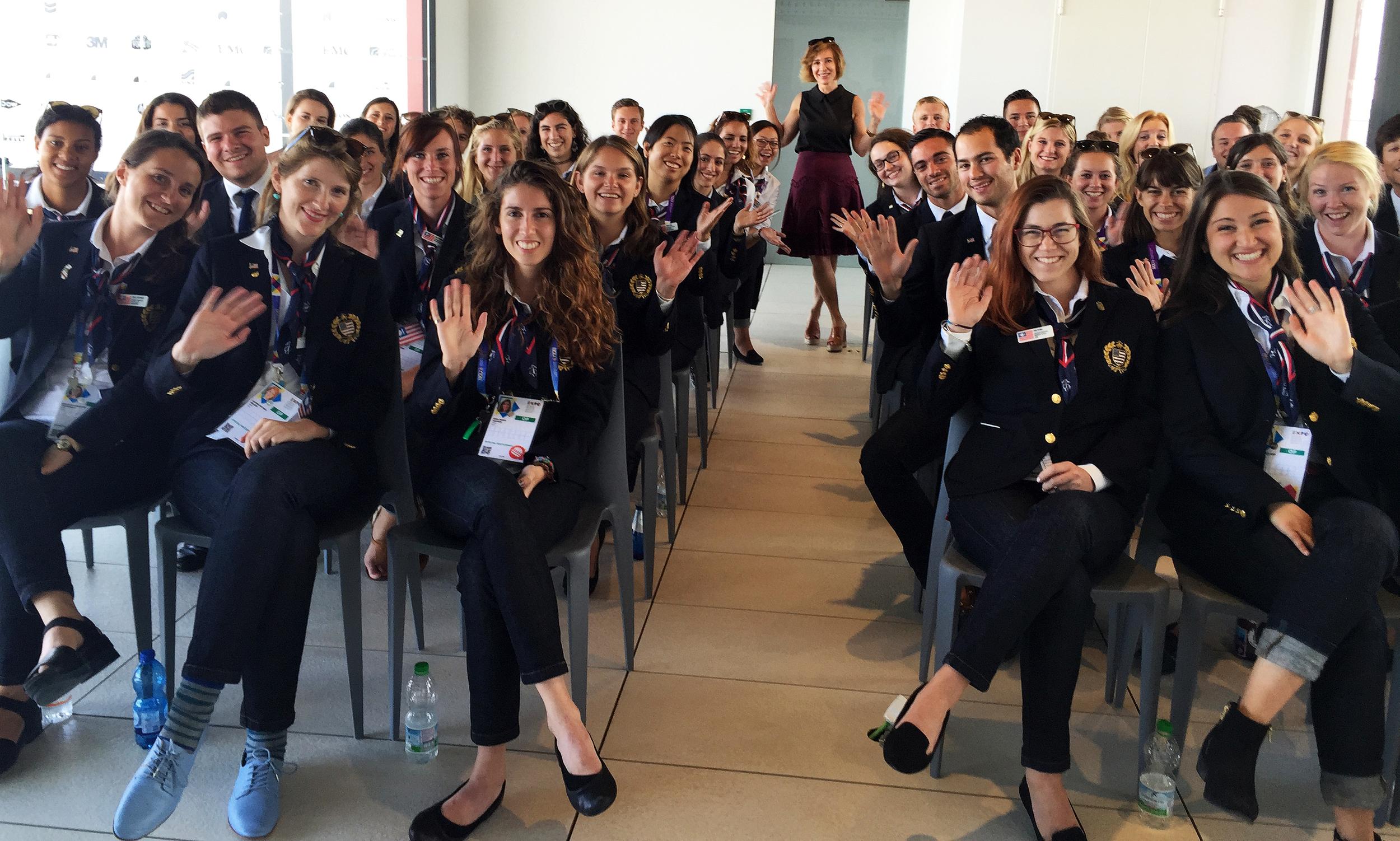 Carla Frank at EXPO Milano 2015 USA Pavilion
