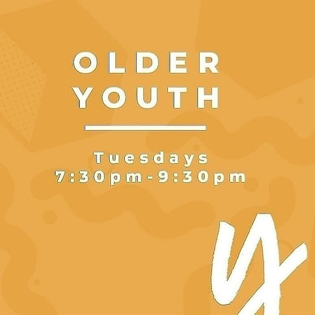 OLDER YOUTH TONIGHT! See you at the Turner's at 7.30 🙌
