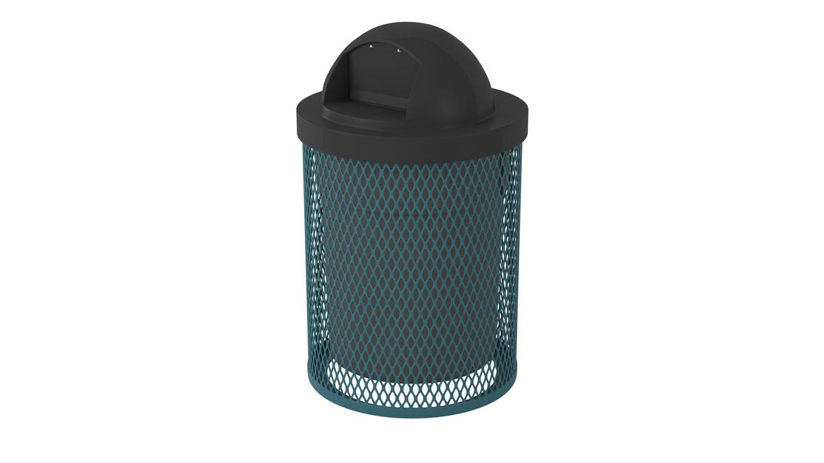 outdoor trash receptacle