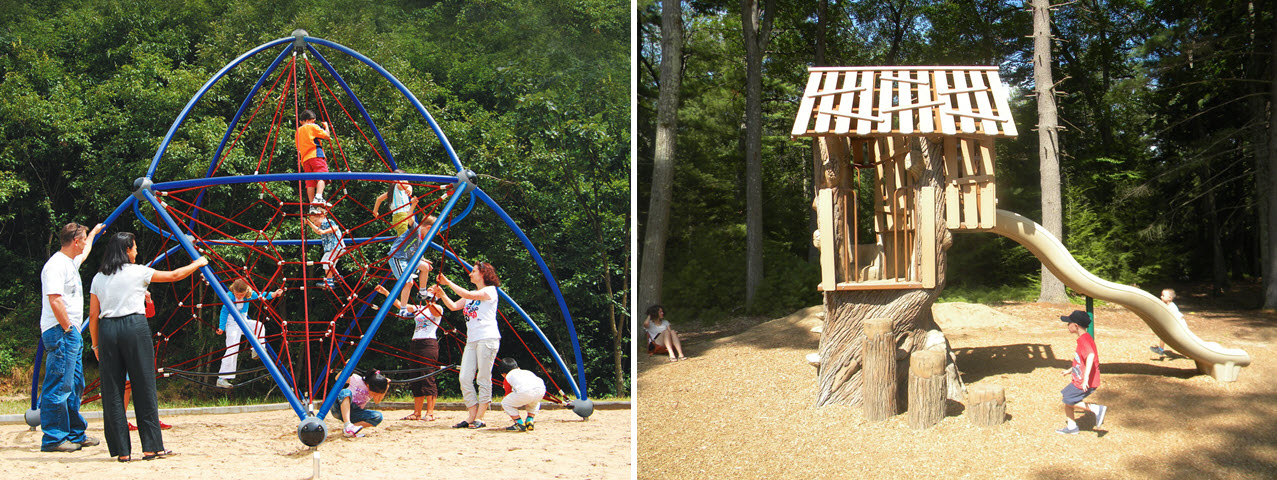 Jungle playscapes and play structures