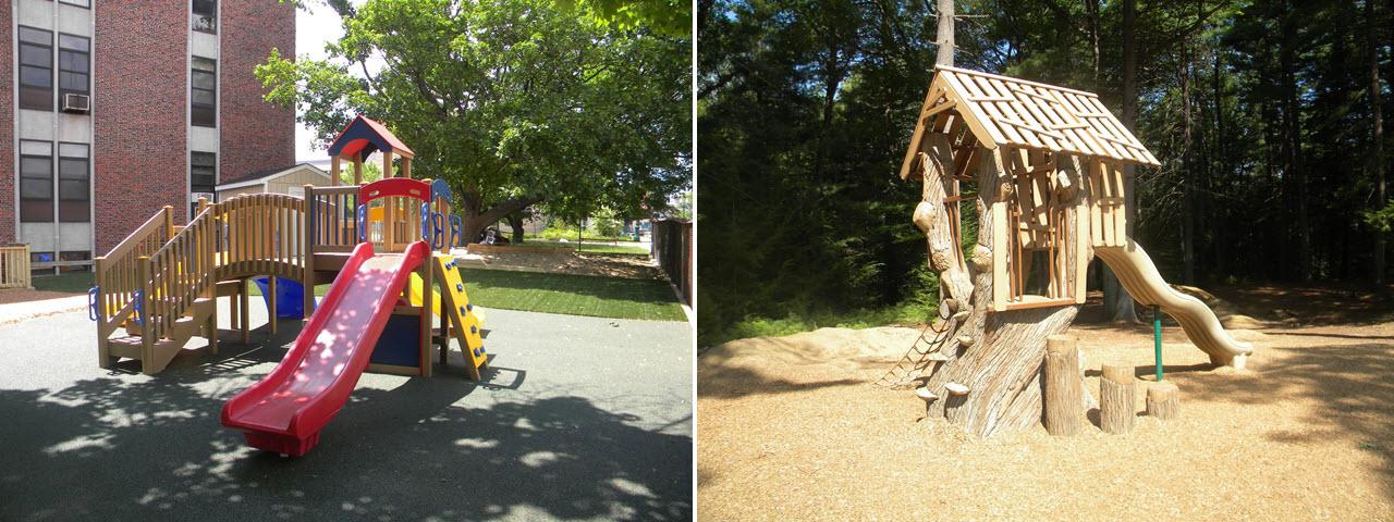 environmentally friendly playground slides
