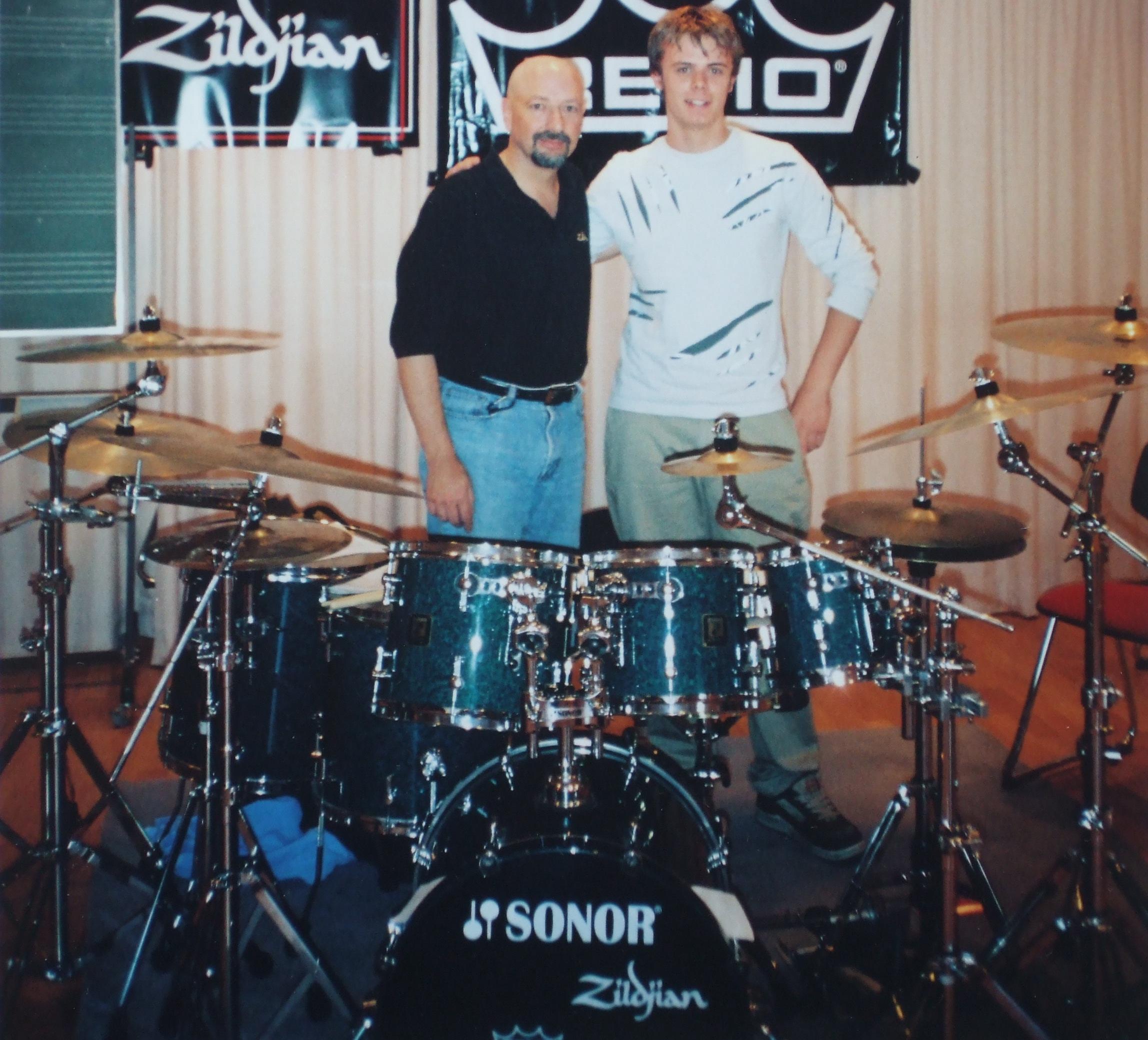 Ben, age 15, at Musikakademie Marktoberdorf,Germany,with Steve Smith.