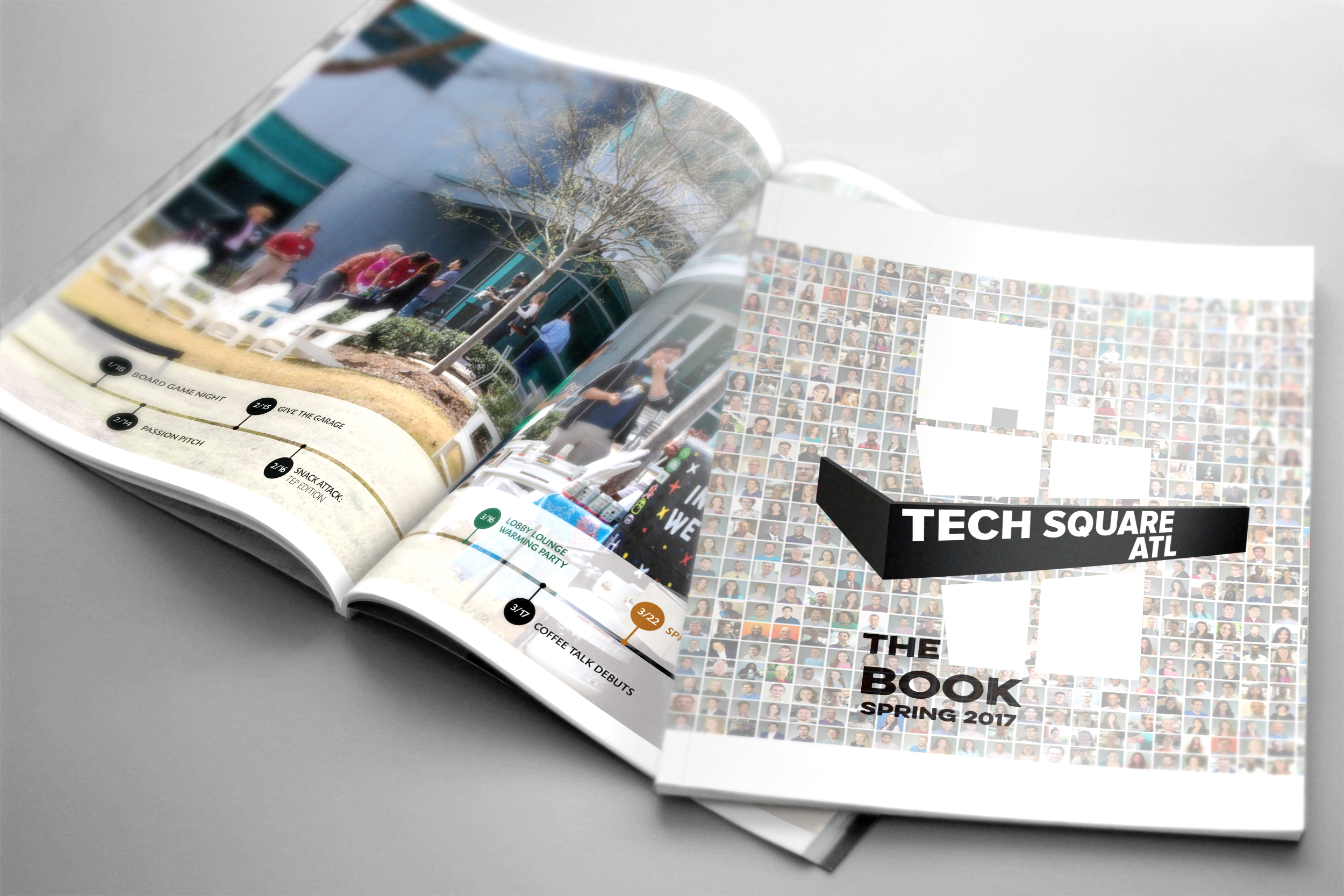The Book is ready to give you a better understanding of the people and organizations who make Tech Square the heart of Atlanta's tech scene.  Produced three times a year, this comprehensive community resource for Tech Square features the people, ideas, and companies found at the heart of Atlanta's tech scene.