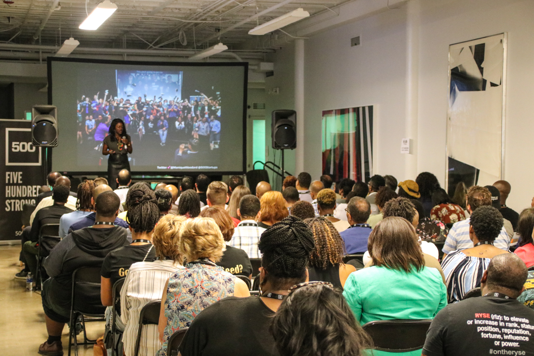 Monique Woodward kicked off the Unity and Inclusion Summit hosted by 500 Startups