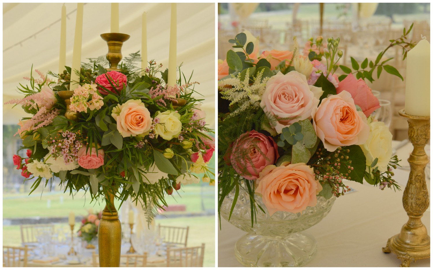 Coral, peach & blush wedding at Courteenhall, Northamptonshire