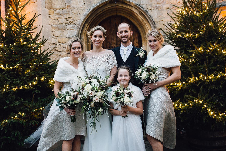 Romantic winter wedding at Notley Abbey, bucks