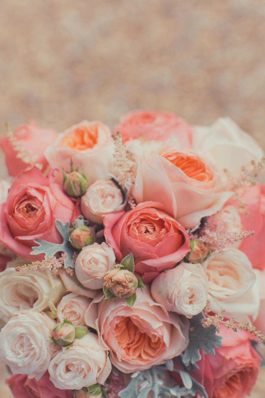 Bridal bouquet with Juliet & Garden Romantique Roses