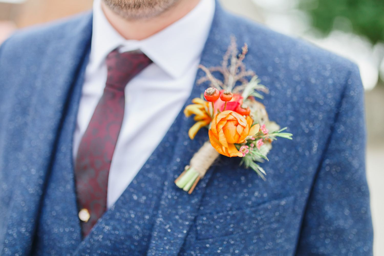 Autumnal Groom's Buttonhole