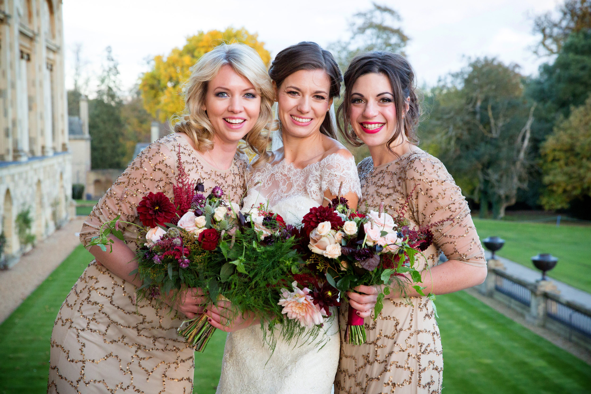 Autumn wedding at Stowe House, Buckinghamshire