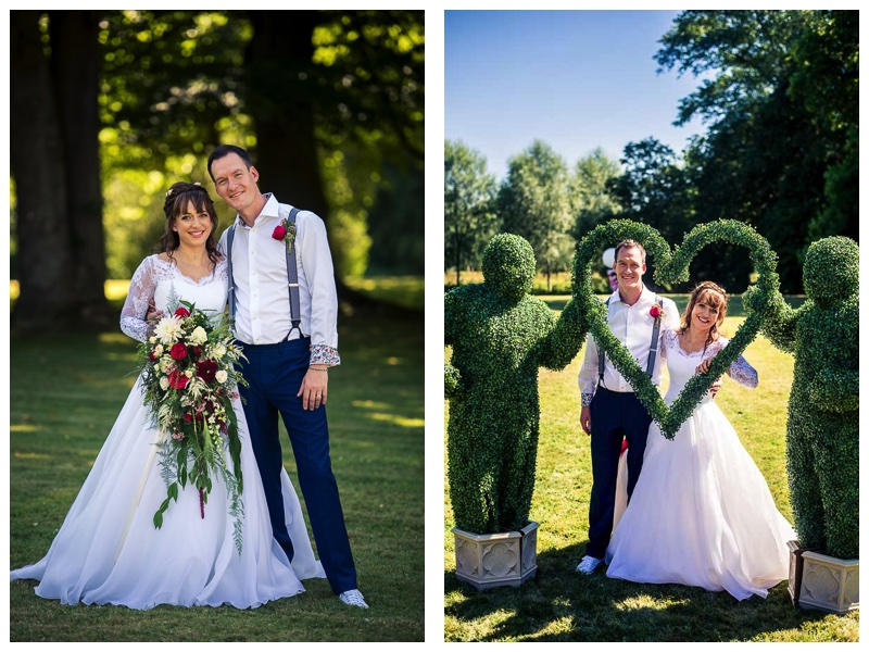 Red & White wedding at Notley Abbey, Buckinghamshire