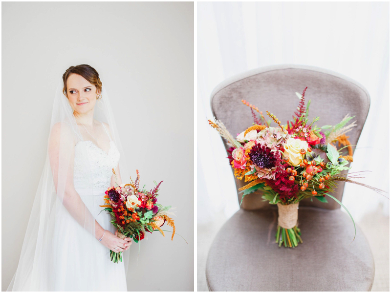 Autumn bridal flowers