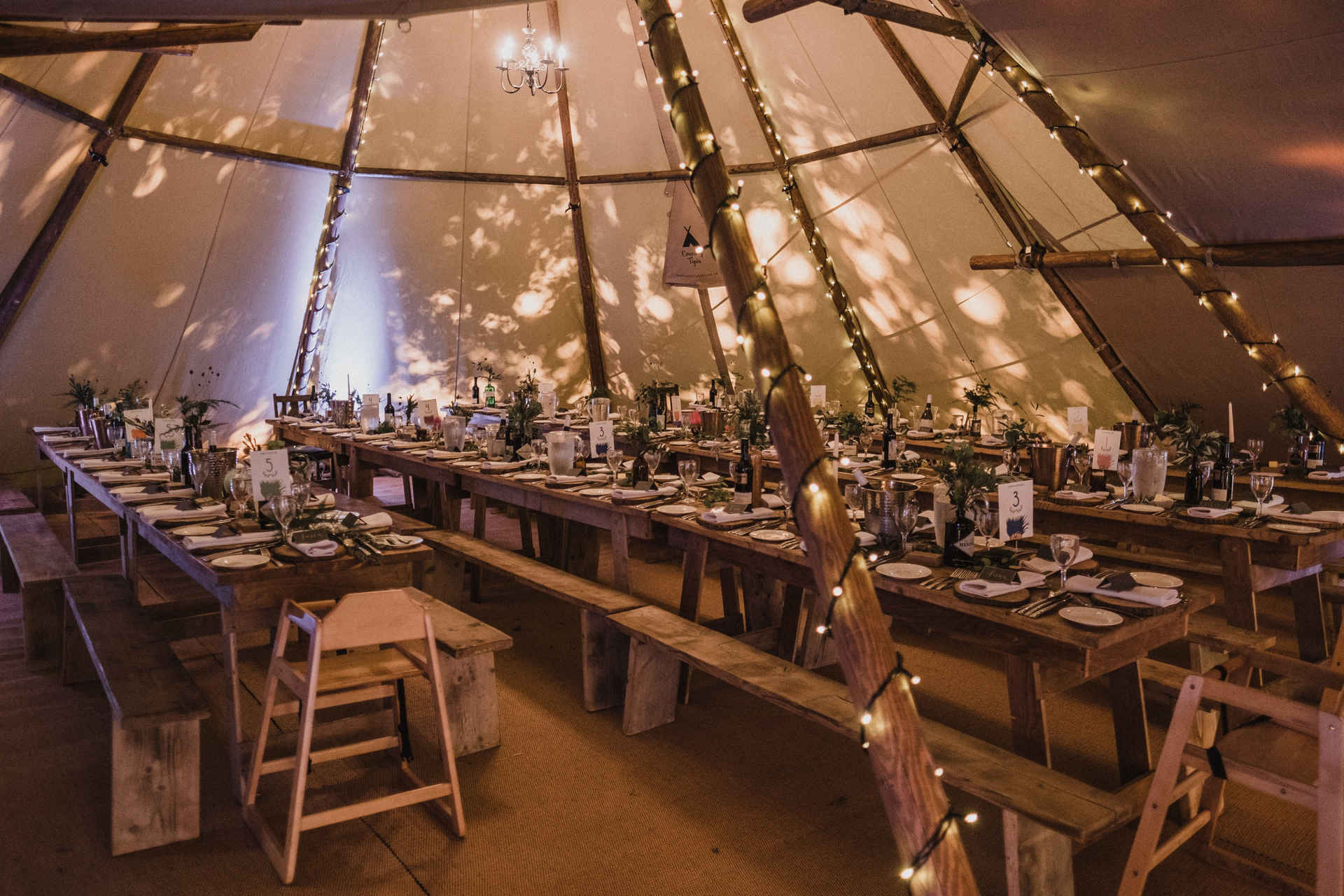Tipi wedding at Lila's Wood, Tring, Hertfordshire