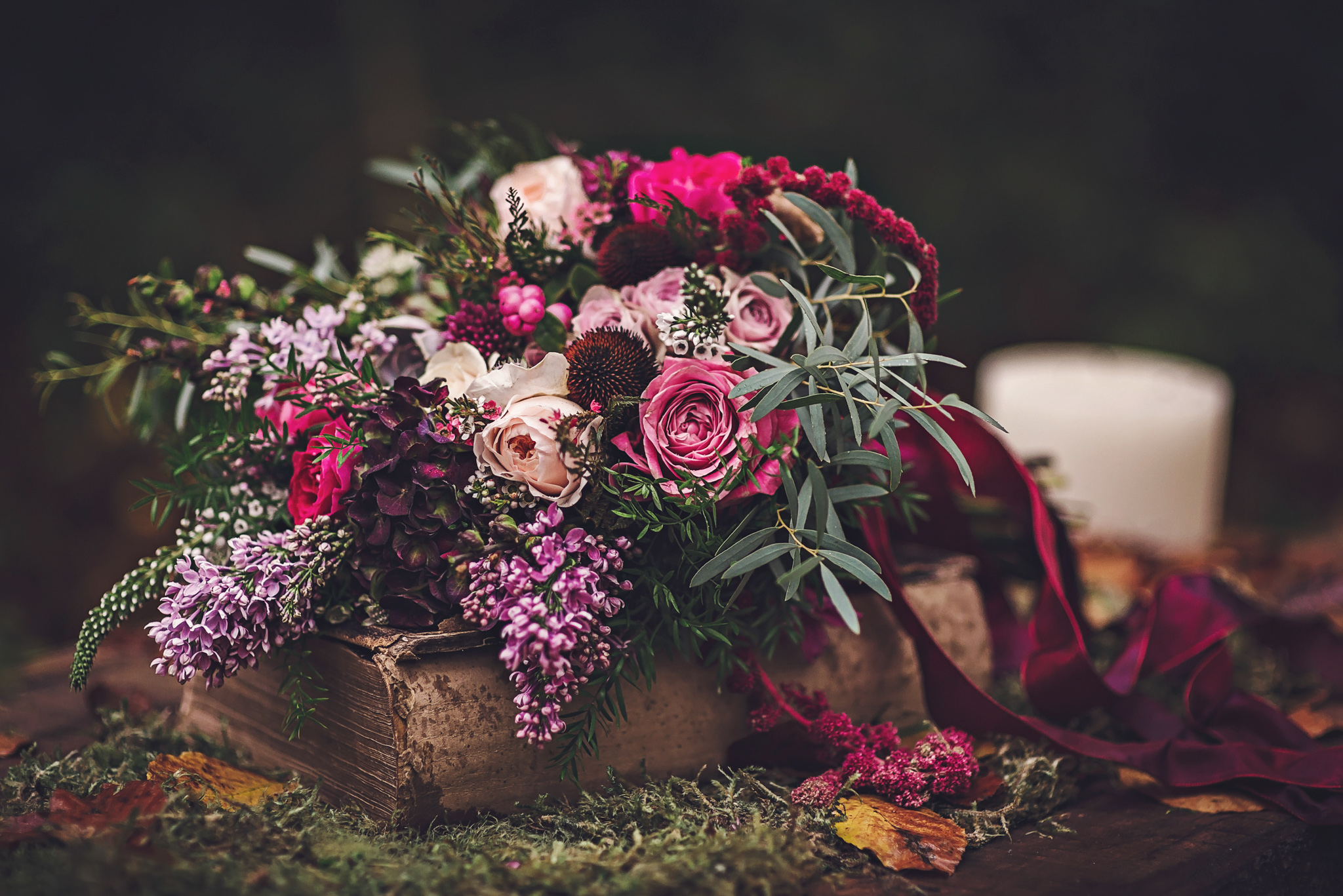 woodland inspired naturally styled bridal bouquet