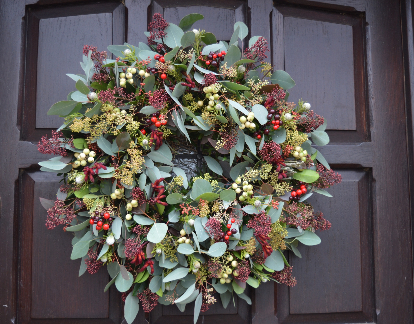 Foliage and skimmer Christmas Wreath