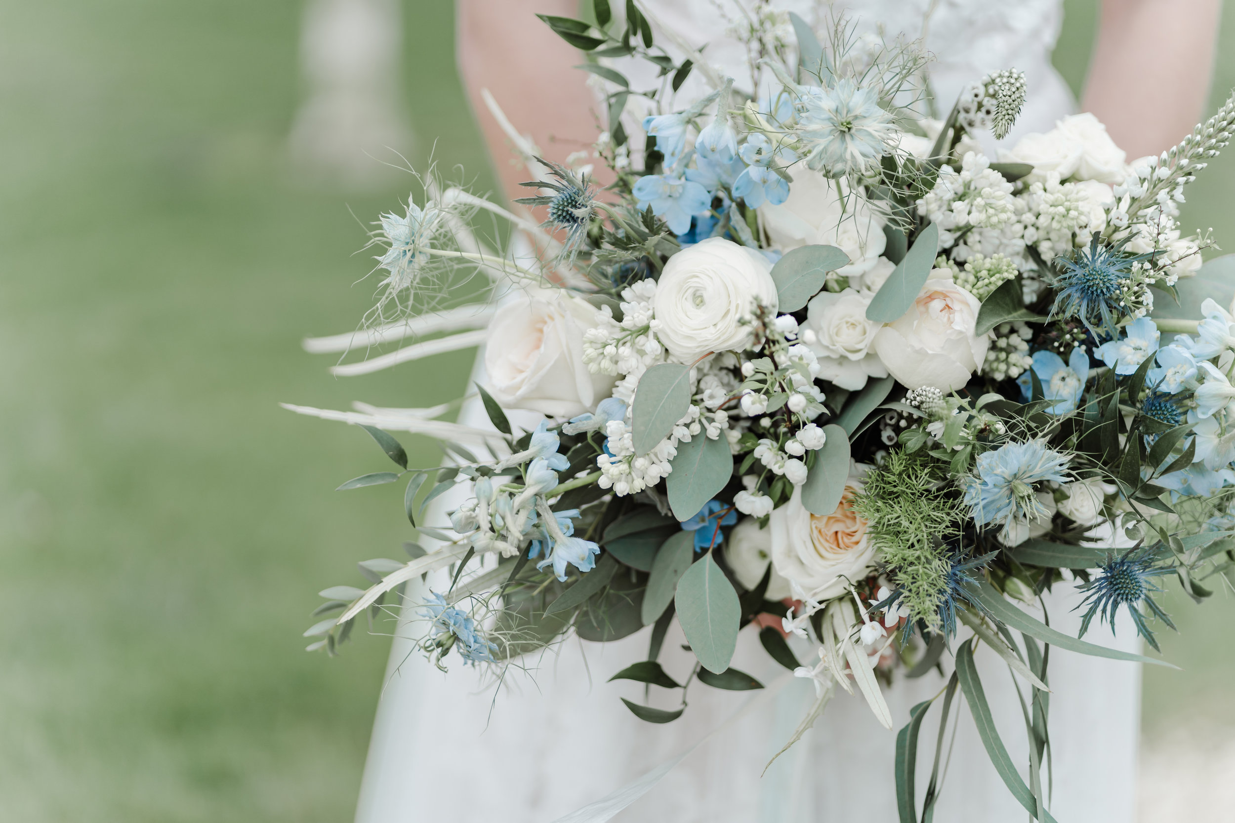 Blue & White spring bouquet