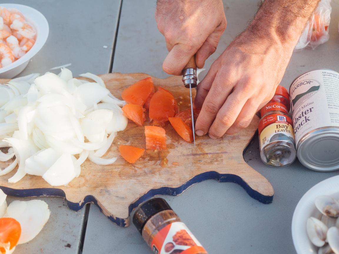 texas camp camping cookery campvibes cioppino fish america yall pawlowski 2