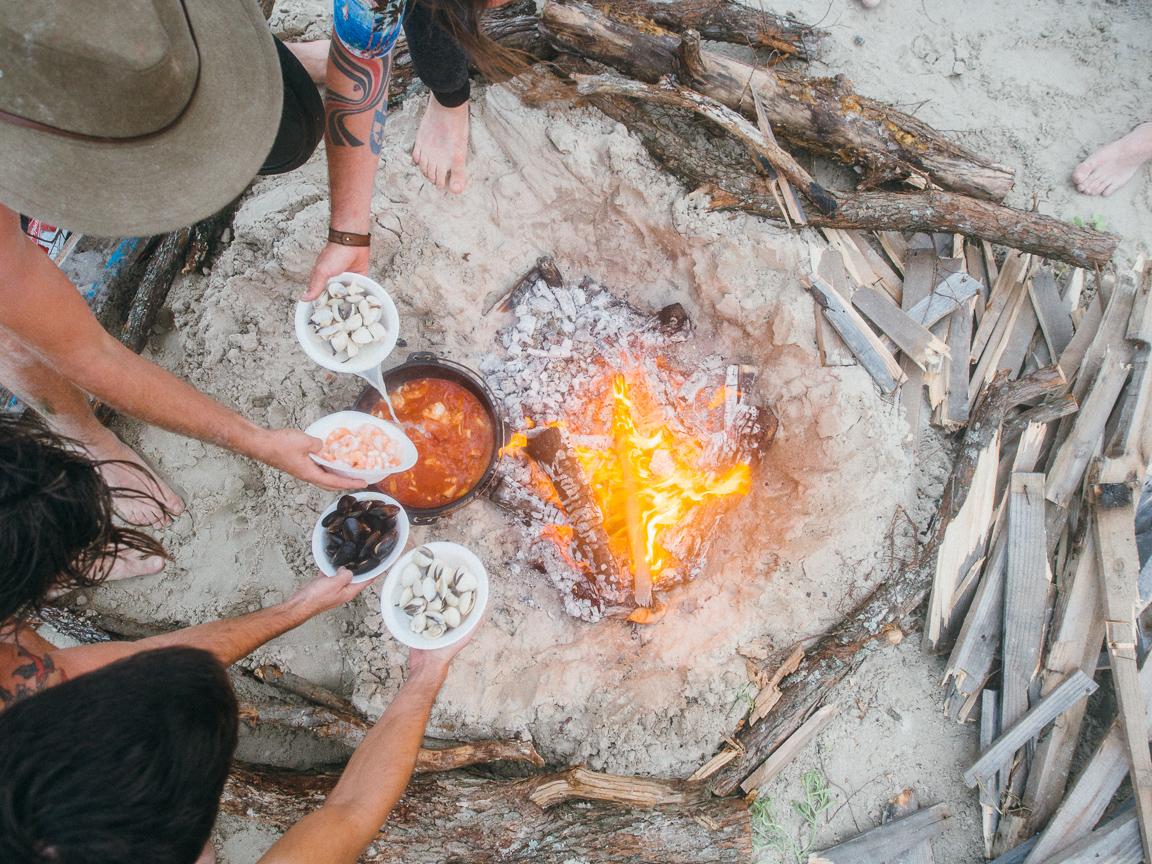 texas camp camping cookery campvibes cioppino fish america yall pawlowski 15