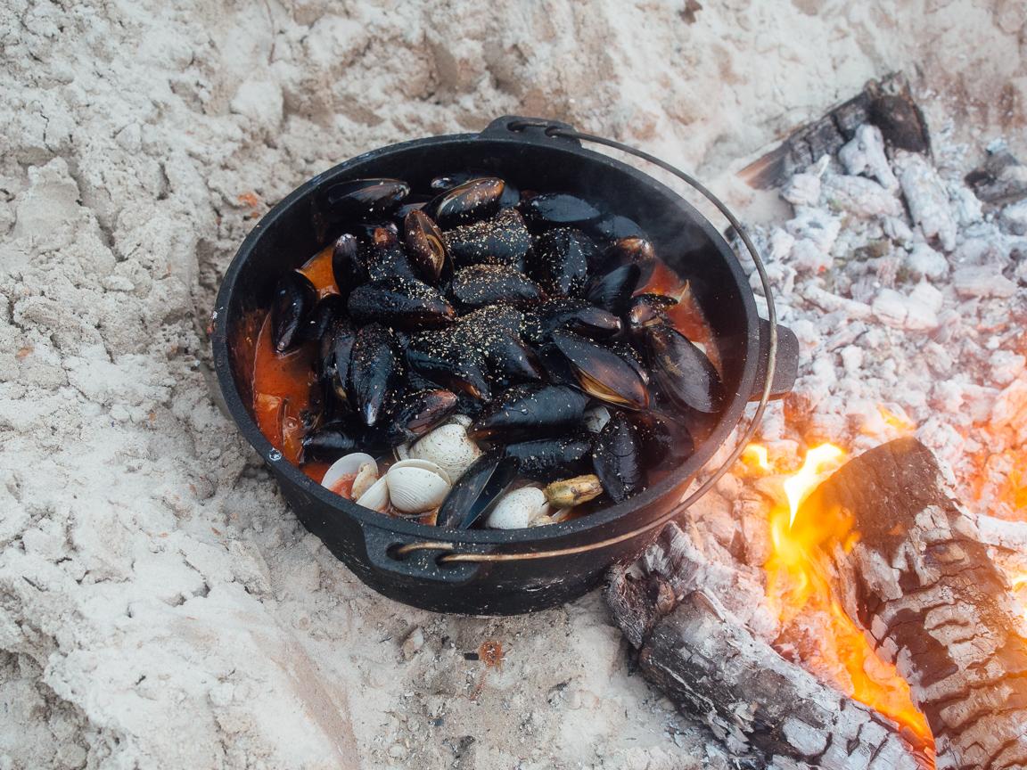 texas camp camping cookery campvibes cioppino fish america yall pawlowski 16