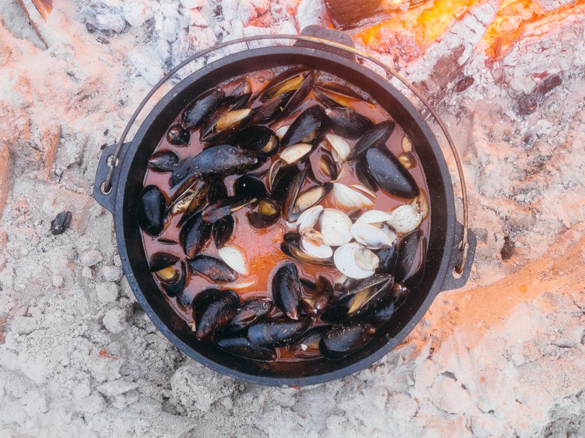 texas camp camping cookery campvibes cioppino fish america yall pawlowski 19