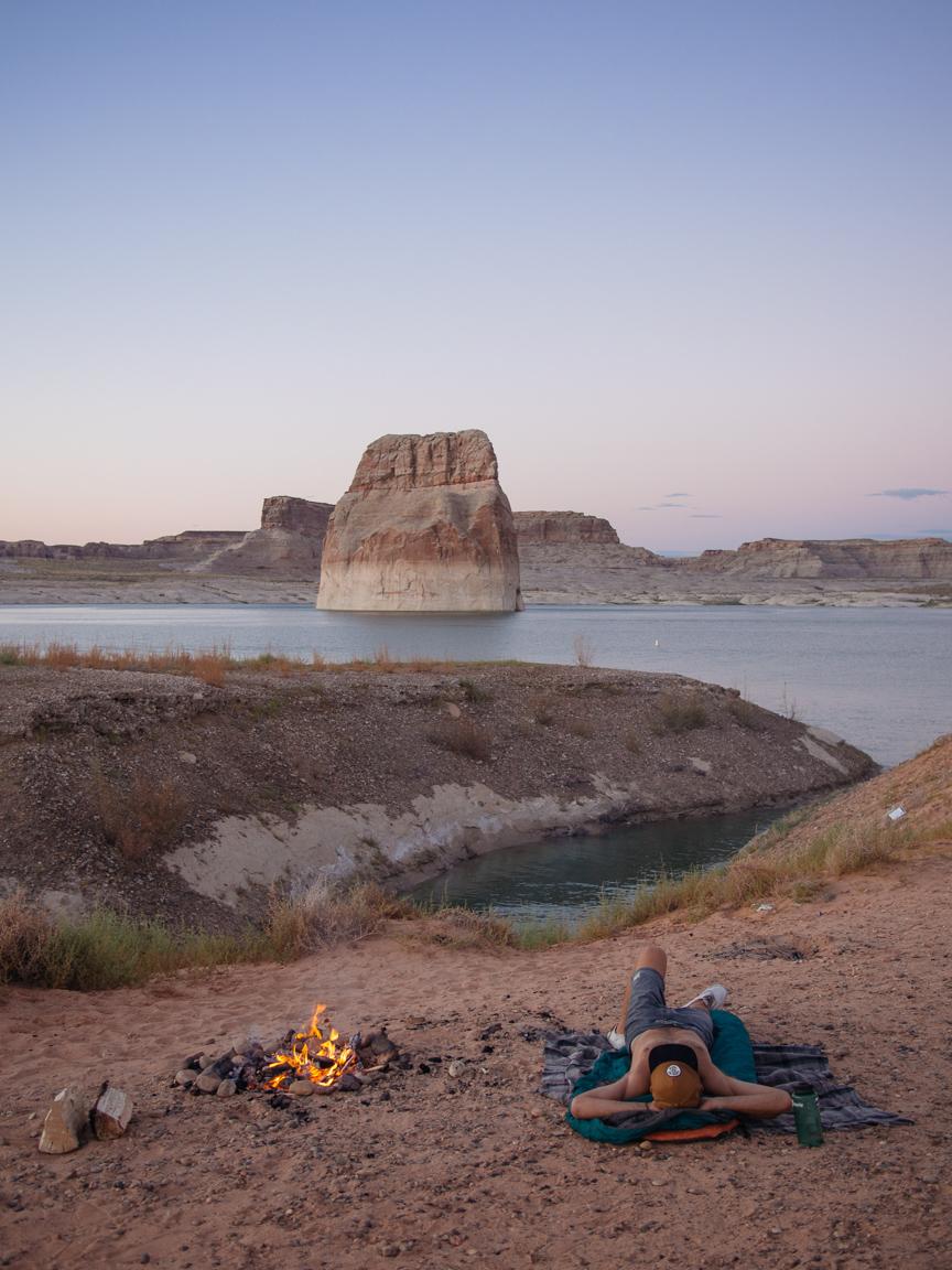 new mexico arizona utah lake powell arches motorcycle america yall americayall pawlowski camp camping lone rock powell
