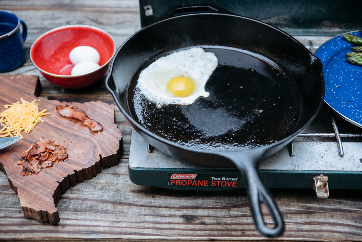 america yall cooking americayall pawlowski camp camping asparagus eggs cast iron texas vsco nikon egg