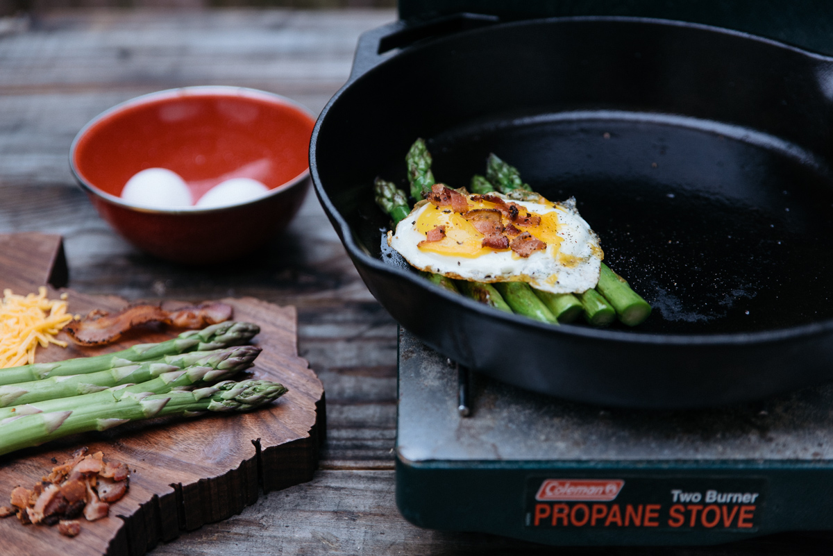 america yall cooking americayall pawlowski camp camping asparagus eggs cast iron texas vsco nikon cheese