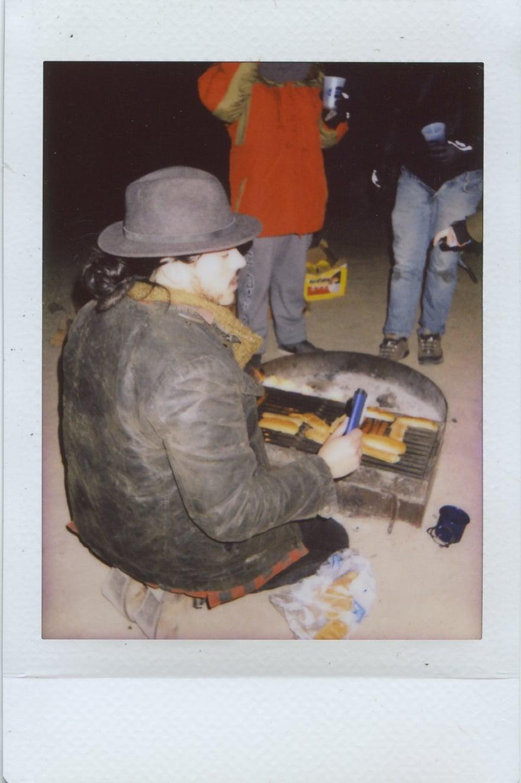 fuji instax salvation mountain california joshua tree hotdogs campfire