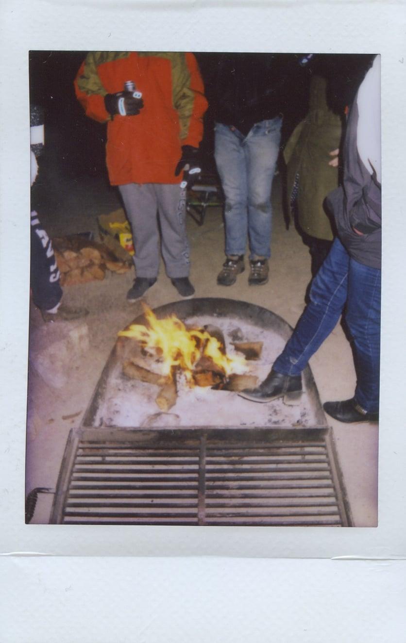 fuji instax salvation mountain california joshua tree boots fire