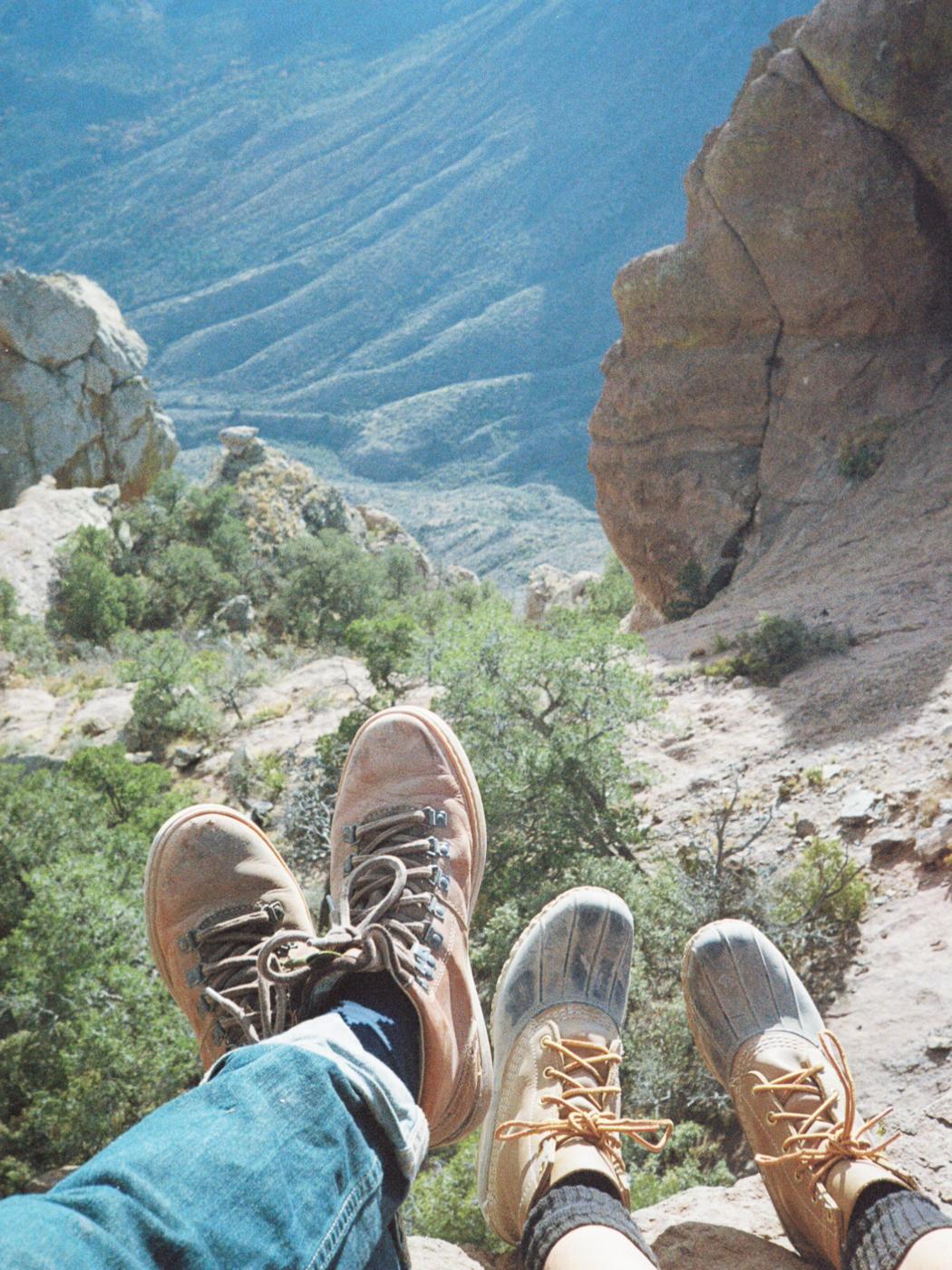 film 35mm lomo olympus hike camp big bend texas america yall pawlowski boots