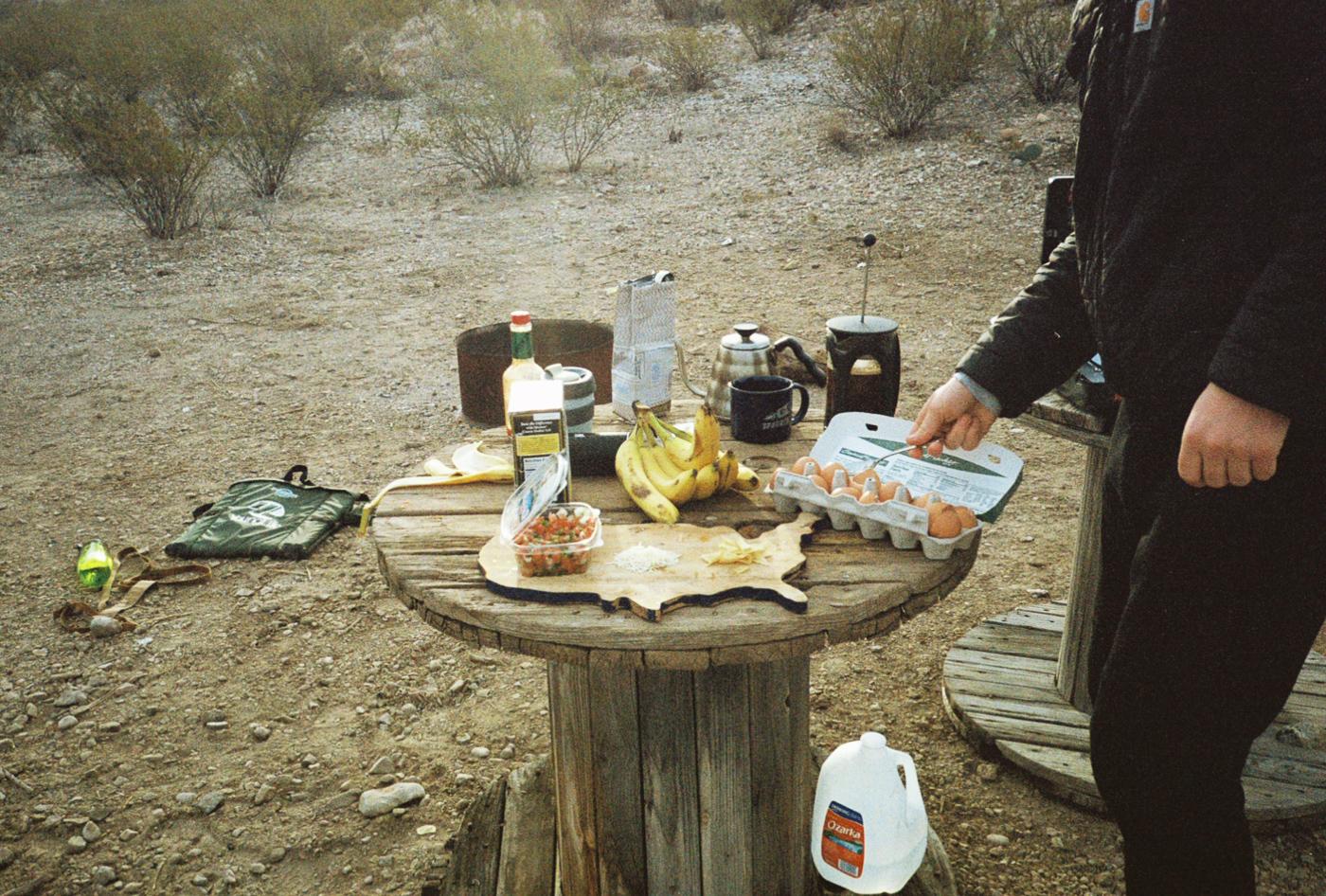 film 35mm lomo olympus hike camp big bend texas america yall pawlowski breakfast