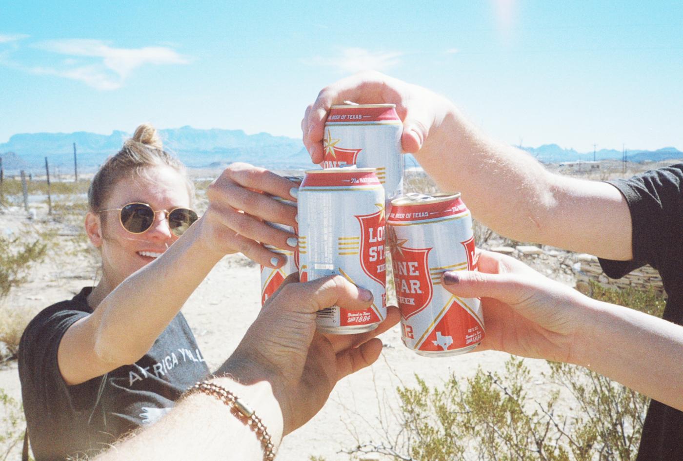 film 35mm lomo olympus hike camp big bend texas america yall pawlowski beer