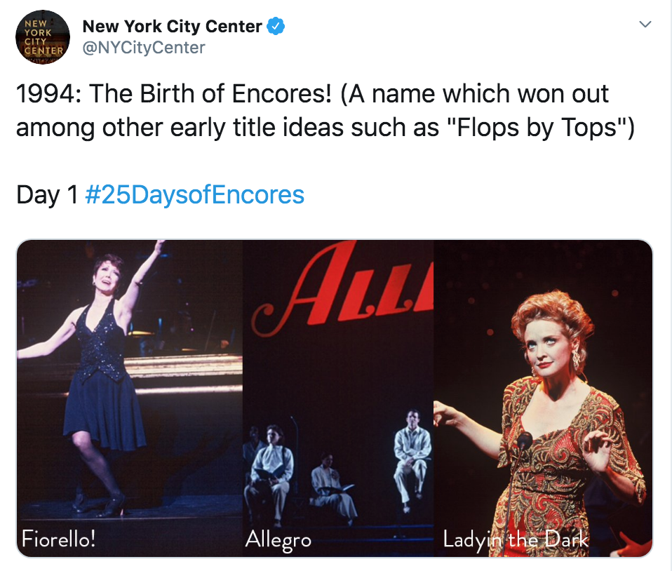 To celebrate the 25th season of City Center's beloved Encores! program, I created a month-long series full of highlights from over 2 decades. #25DaysofEncores