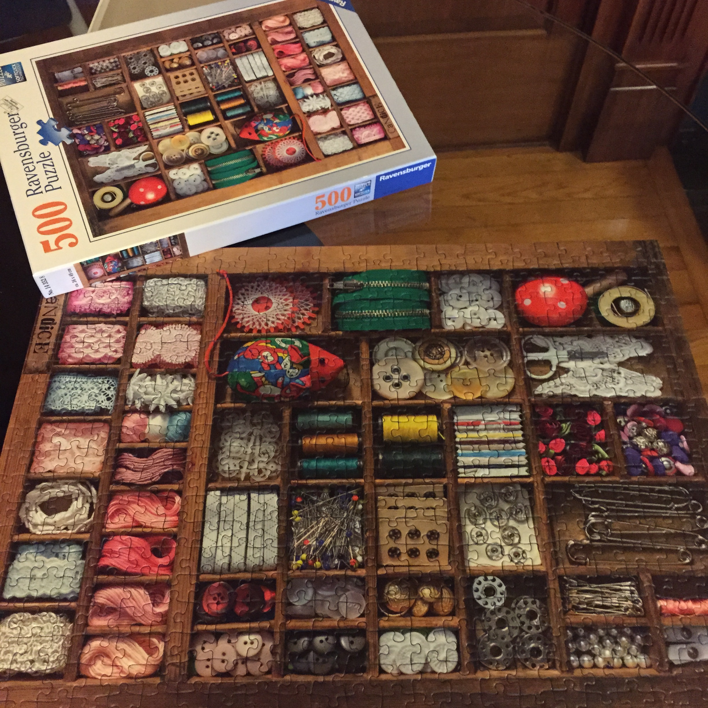 they conquered this puzzle in a day. next year: 1,000 pieces.