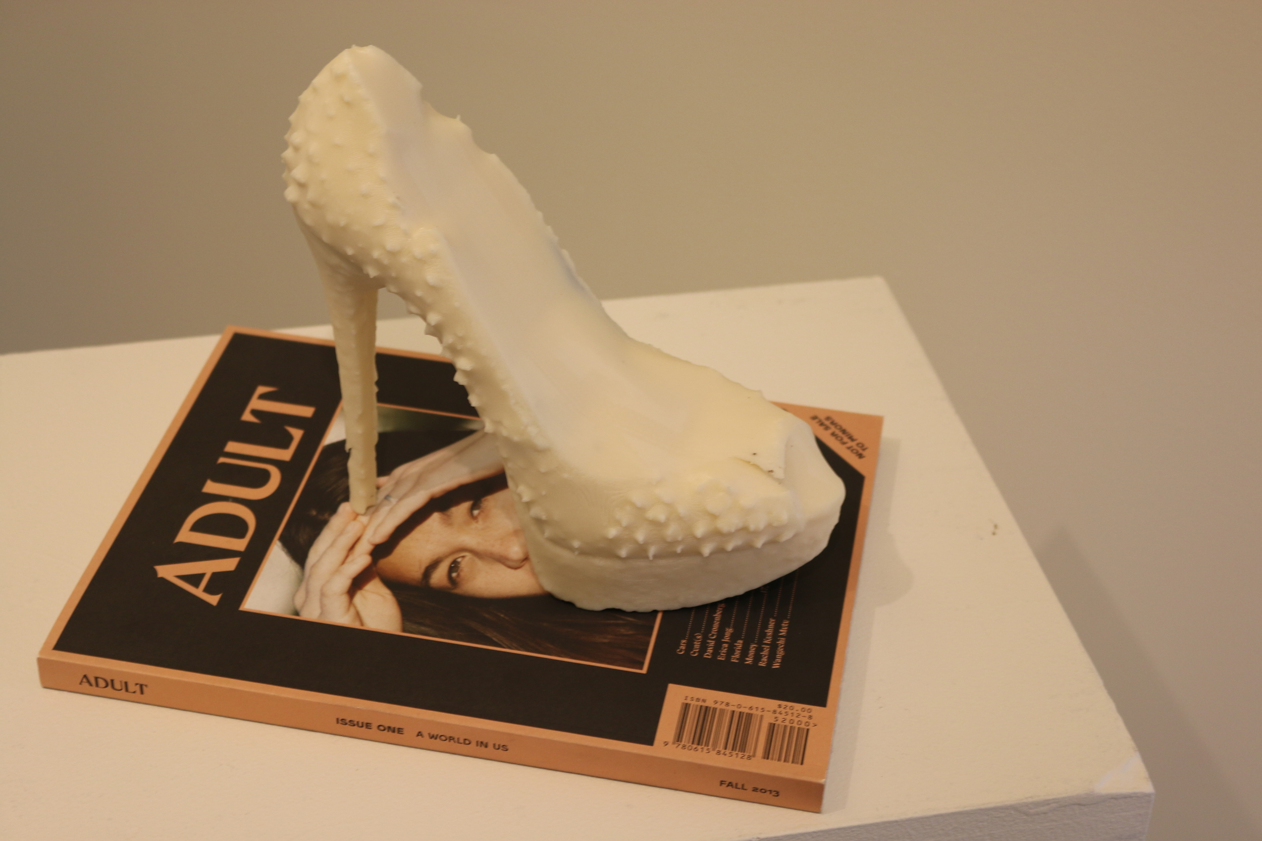 "HARD HARD ON ON  Christian Louboutin Replica Plastic Shoe, Magazine. 7.5""x7.5""x10"". 2014"