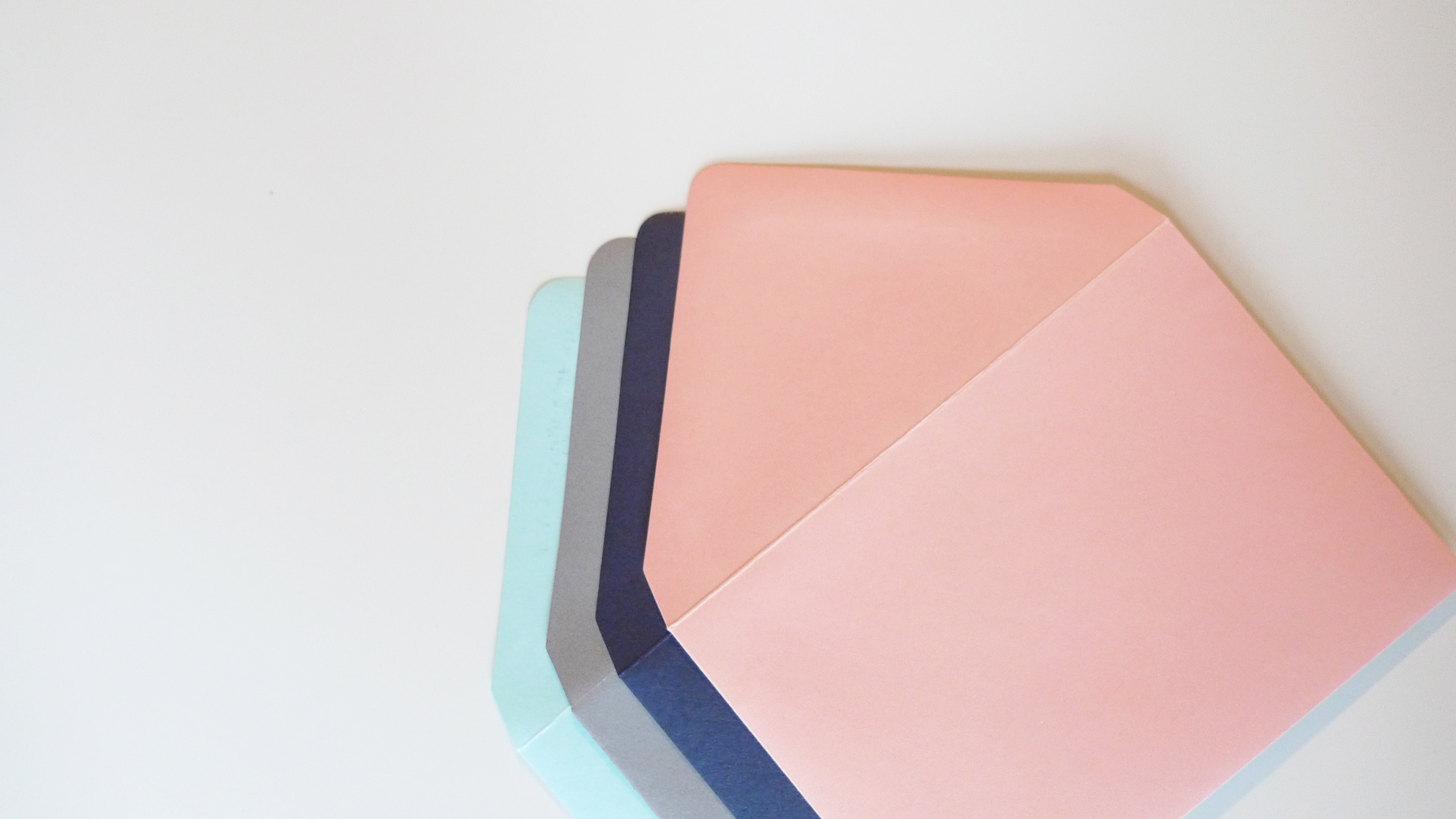 Handmade Letters - Colored envelopes