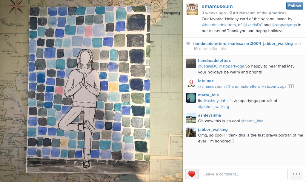 Instagram post of myletter by the Art Museum of the Americas ( @amamuseum )