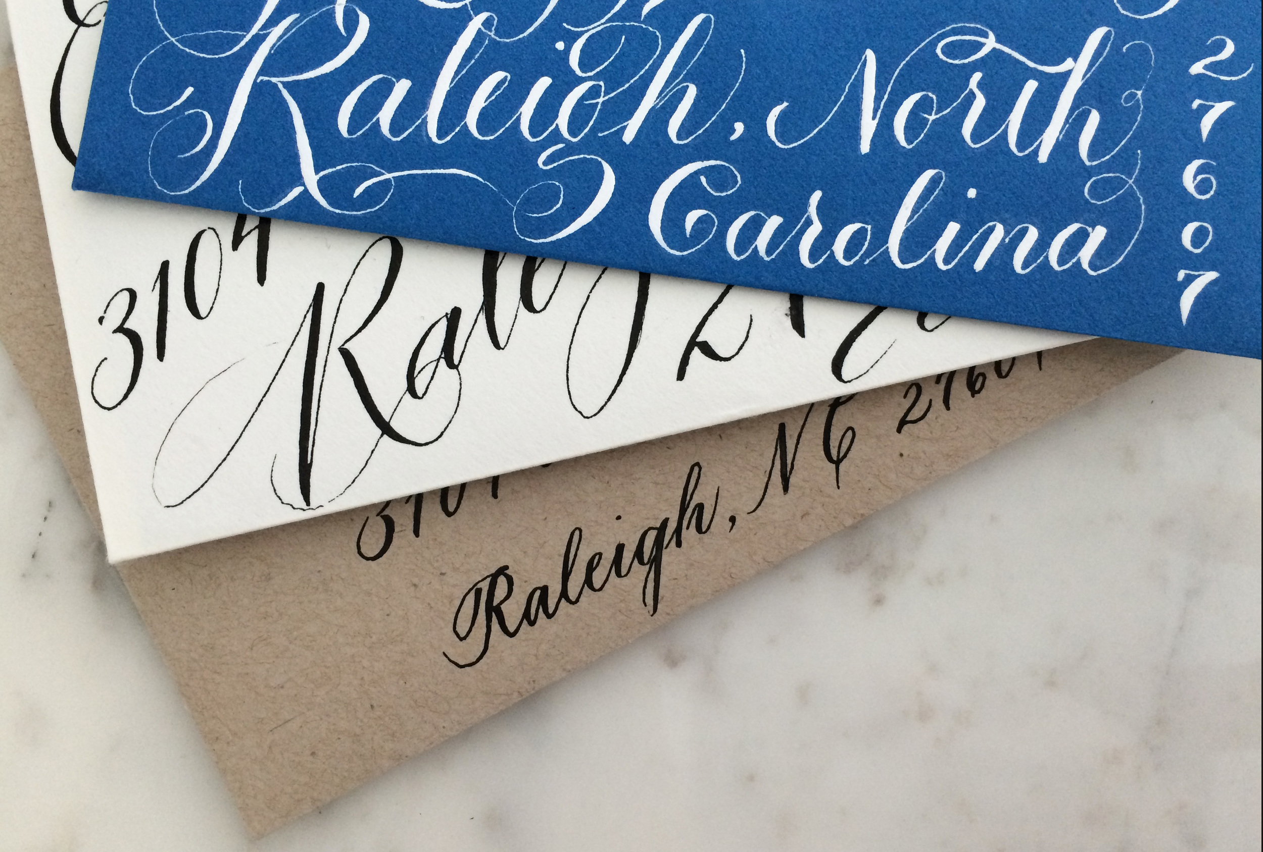 The Raleigh batch: I think this blue envelope to my brother started this whole blue period.