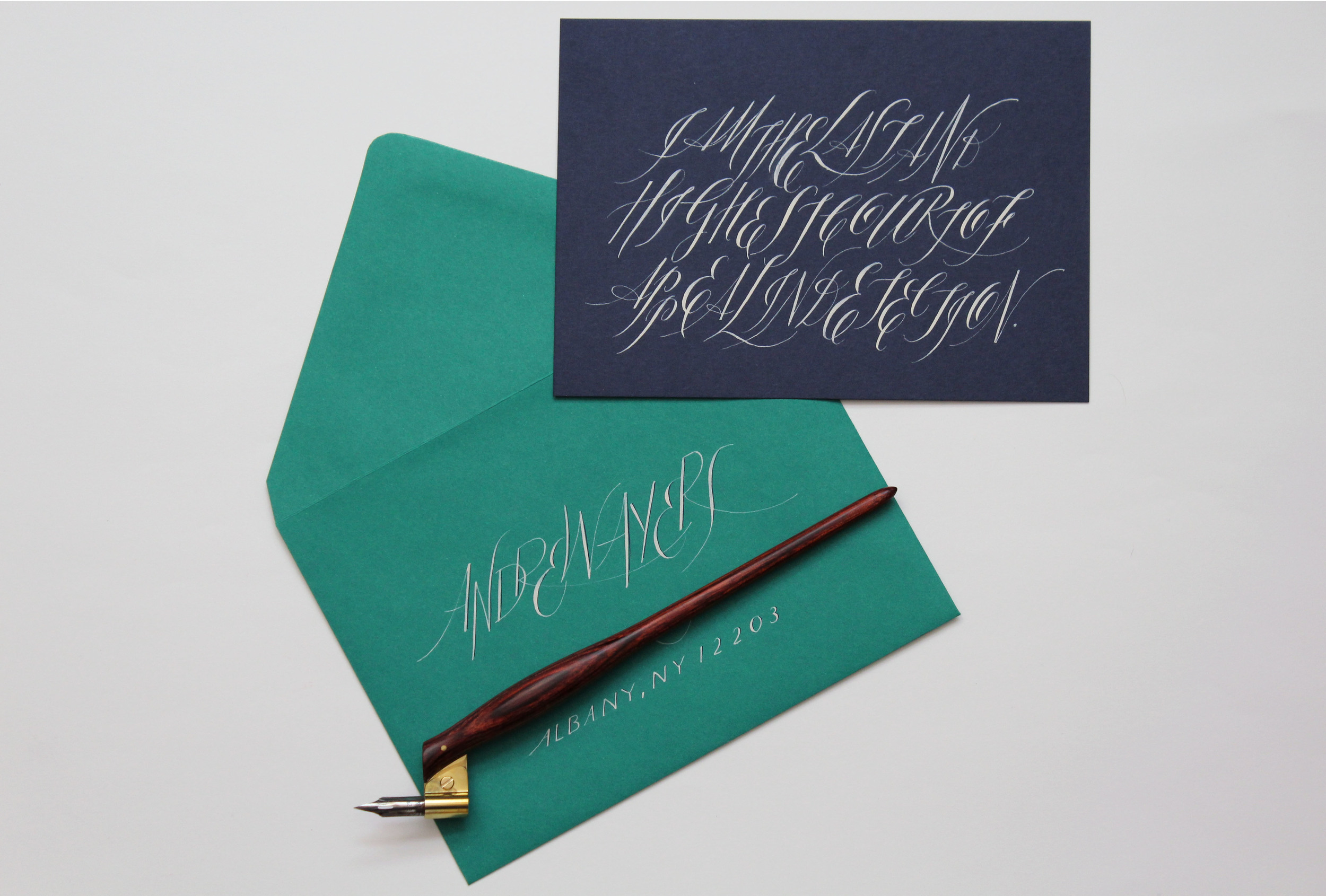 Birthday card with calligraphed   Sherlock Holmes quote