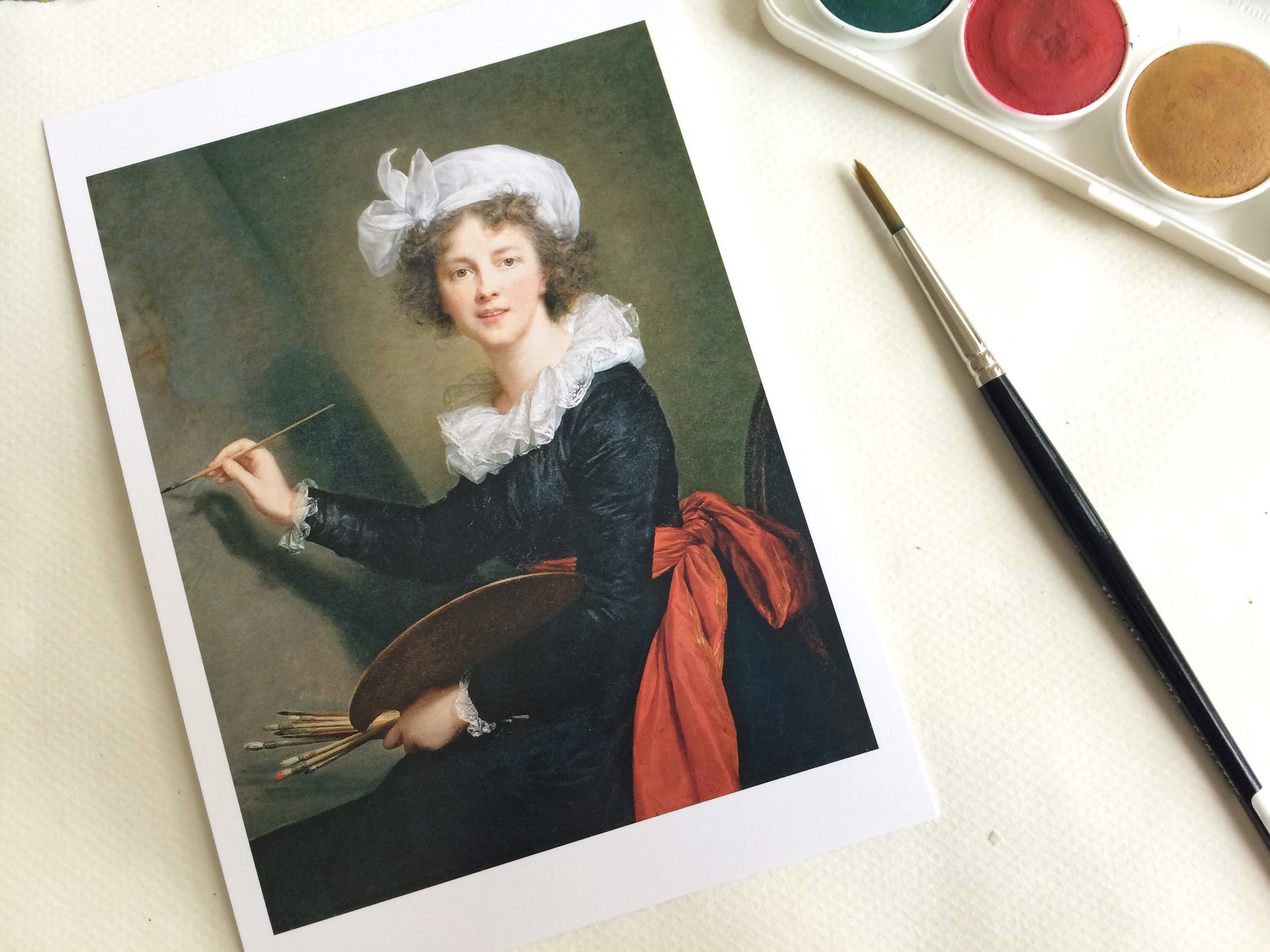 A postcard of Vigée Le Brun's self-portrait.