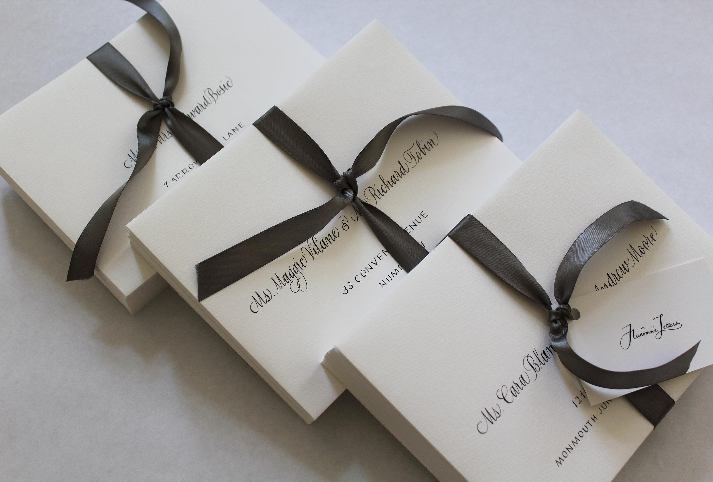 Handmade Letters - Wedding envelopes
